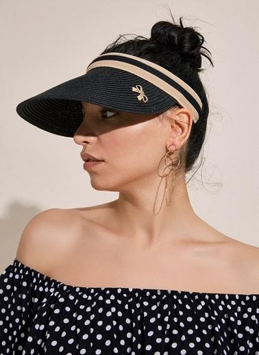 Morhipo Beach Siperli Fiyonk Detaylı Hasır Şapka Siyah